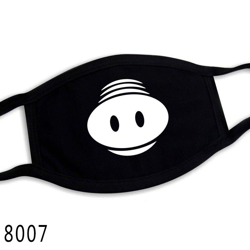 Милая хлопковая маска с героями мультфильмов; праздничные вечерние респираторы; теплая хлопковая маска с милым медведем; камуфляжная маска с защитой от пыли; Муфельная респирато - Цвет: 8007