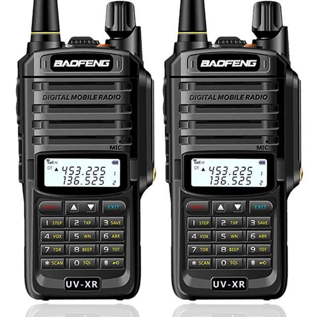 2pcs Baofeng UV XR 10W גבוהה כוח IP67 עמיד למים ווקי טוקי שני רדיו דרך Dual Band כף יד לציד uv 9r uv9r בתוספת