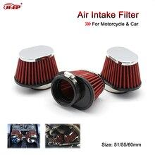 R-EP воздушный фильтр мотоцикла 51 мм 55 мм 60 мм Универсальный для мотоцикла и гоночного автомобиля спортивный воздухозаборник фильтр XH-UN073