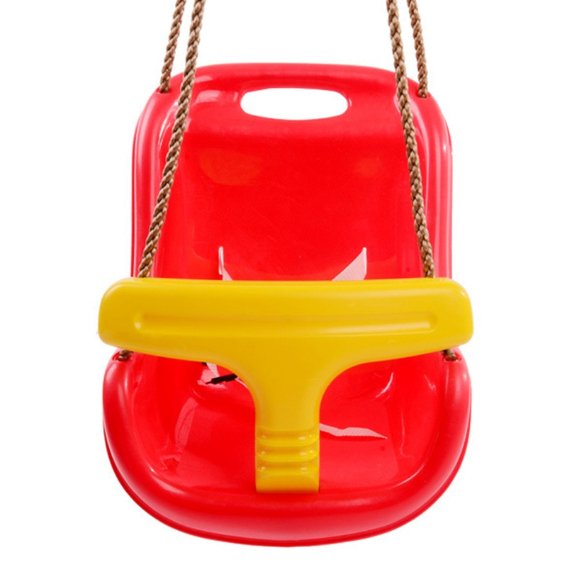3 In 1 Indoor And Outdoor Children's Safety And Health Swing Children Toys Baby High Back PE Plastic Basket Fun Game