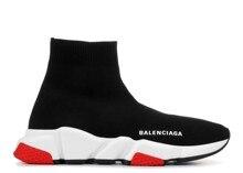 2021 nova balenciaga-melhor qualidade velocidade trainer tênis das mulheres dos homens preto vermelho sapatos casuais da forma das sapatilhas dos esportes das mulheres dos homens