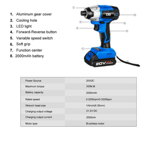 Image 3 - 20V Cordless Impact Drill Cordless Screwdriver Optional Two Piece Set 2000mAh Wireless Rechargeable Screwdriver By PROSTORMER