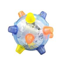 Music Colorful Flashing Flash Electric Dancing Football Croquet Jumping Ball Multi-Angle Toy