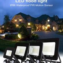 10 Вт, 20 Вт, 30 Вт, 50 Вт, 100 Вт, 150 Вт, 200 Вт, садовый поисковый настенный светильник, светодиодный прожектор, наружный проектор, пейзаж, PIR датчик движения, светильник AC220