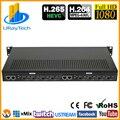 1U Rack HEVC H.265 H.264 HDMI видео поток кодировщик прямой трансляции HD IPTV кодировщик 8 каналов HDMI к HTTP RTSP RTMP кодировщик