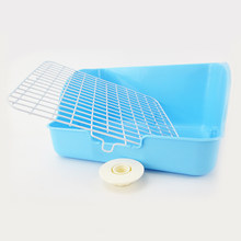 Pet Cat Rabbit Corner Toilet Trash Can Clean Small Animal Pet Indoor Pet Trash Can Training Tray(China)