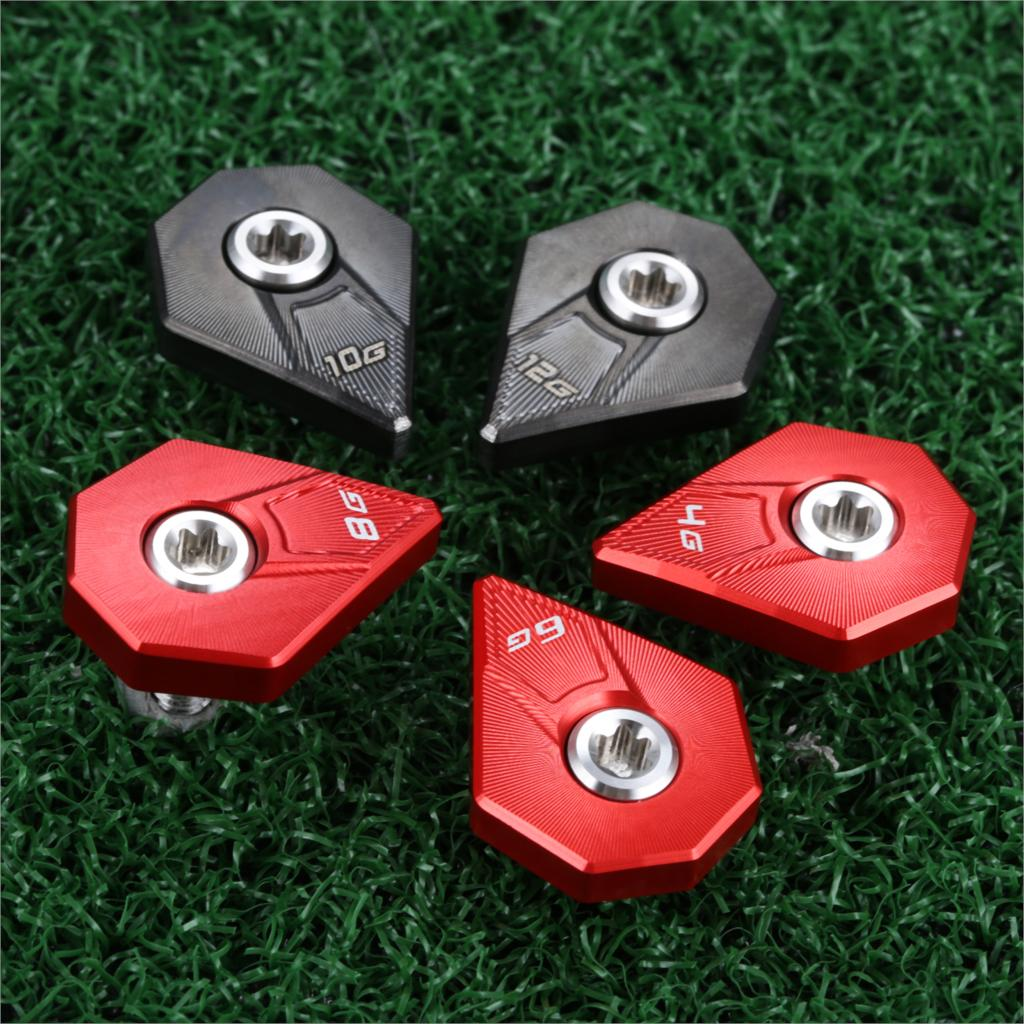 5Pcs For Cobra F9 Driver Metal Golf Weights Screw Replacement Golf Club Heads Accessories 4g 6g 8g 10g 12g Red/Black Wholesale