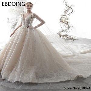 Image 3 - Sang Trọng Bầu Áo Cưới Vestidos De Novia Hoàng Gia Tàu Mới Nhất Dài Plus Kích Thước Cô Dâu Đầm Váy Cưới Cô Dâu Đầm