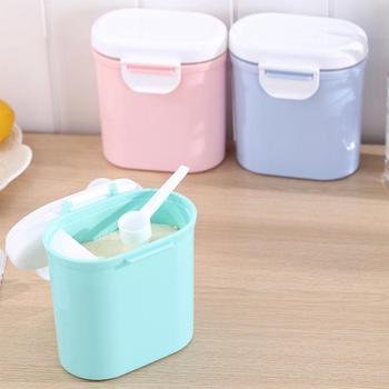 Kuulee Large Capacity Baby Milk Powder Can Airtight Storage Box Barrel  PP + Silicone Sealing Ring