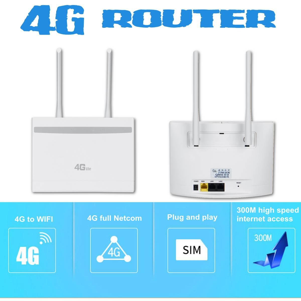 Nouveau routeur WIFI sans fil 3G/4G 300Mbps 4G LTE Modem routeur WIFI CPE avec emplacement pour carte Sim PK B310, B315, B593, B525, E5186
