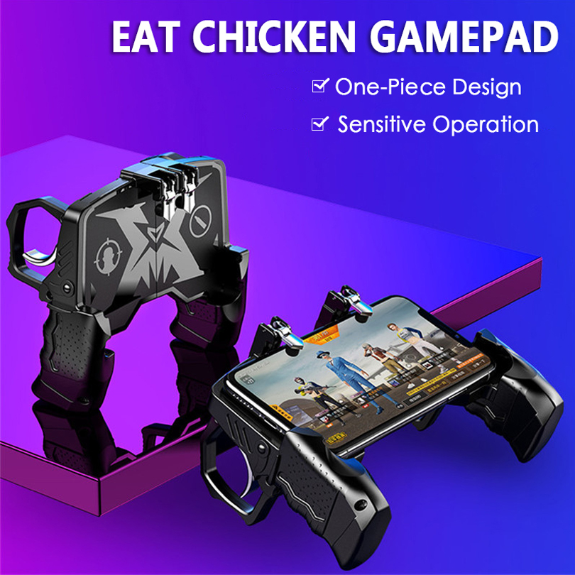 Fpr PUBG Mobile Game Controller Handle Fire Trigger L1R1 Buttons Phone Holder Game Accessories For iPhone IOS Android