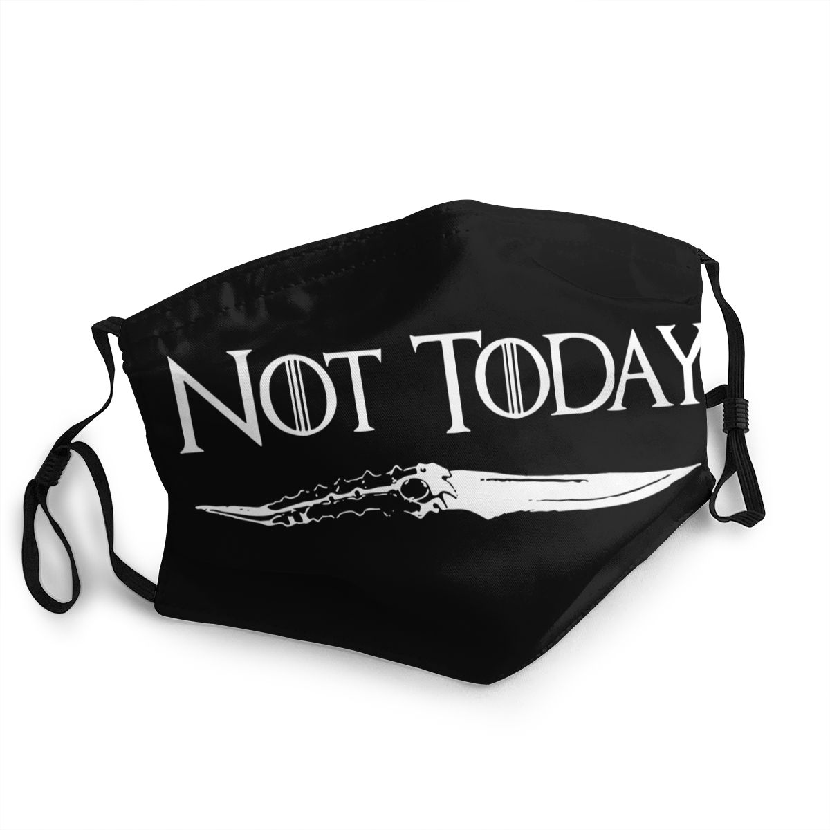 Not Today Arya Stark Adult Non-Disposable Mouth Face Mask Game Of Thrones Anti Haze Dustproof Protection Cover Respirator