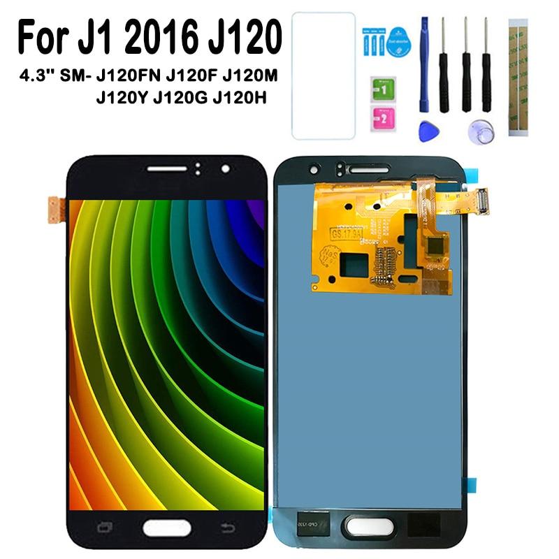 Ajustar o Brilho Da Tela Para Samsung Galaxy J1 2016 J120 SM-J120FN/F/M/H/DS Tela de LCD Touch Screen J120H J120FN J120F J120M
