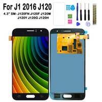 Ajustez l'écran de luminosité pour l'écran tactile d'affichage à cristaux liquides J120H J120FN J120F J120M de Samsung Galaxy J1 2016 J120 SM-J120FN/F/M/H/DS