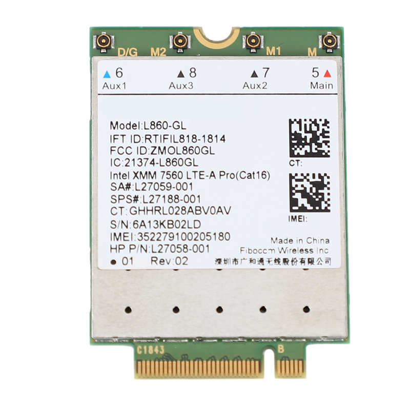 L860-GL FDD-LTE TDD-LTE Cat16 4G Module 4G Card SPS 4G Card For HP Laptop