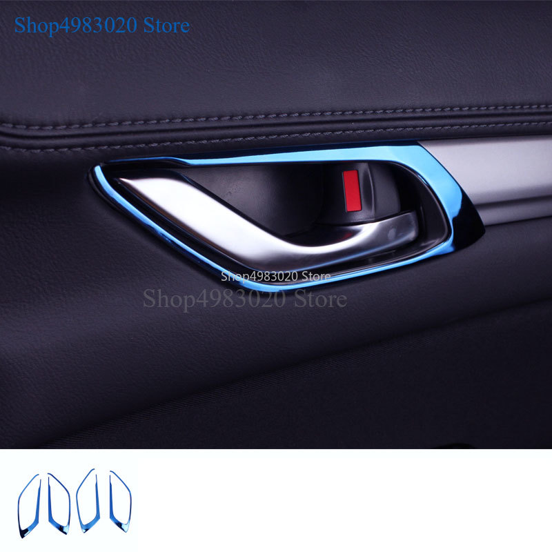 For <font><b>MAZDA</b></font> <font><b>CX</b></font>-<font><b>5</b></font> CX5 2017 <font><b>2018</b></font> Car Door Handle Bowl Covers ABS Chrome Trim Chromium Styling <font><b>Interior</b></font> Decoration <font><b>Accessories</b></font> 4pcs image