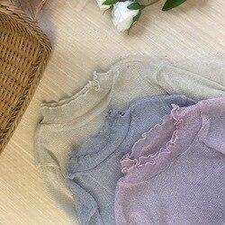2019 Winter Neue Stil Frilled Gaze Basis Hemd Große Größe Unterwäsche Tops frauen Liangsi Sexy Langarm Shirt Weibliche