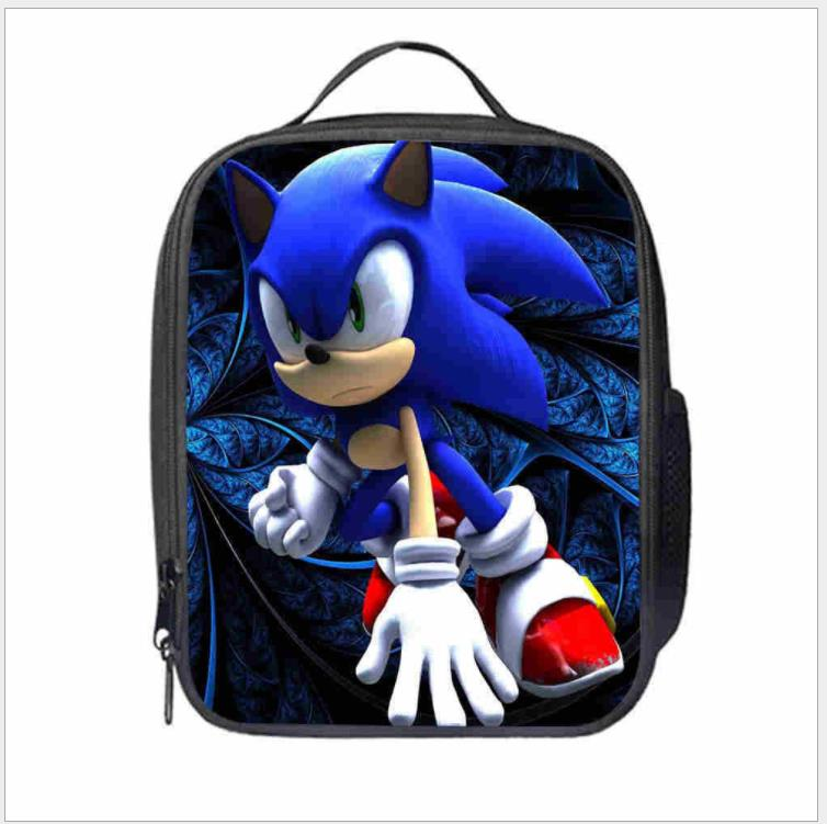 Bolsa de Almoço Bolsa de Viagem Lancheira para Crianças Moda Sonic Cartoon Impressão Thermo Comida Isolado Ocasional Piquenique Bolsa Térmico Mod. 137693