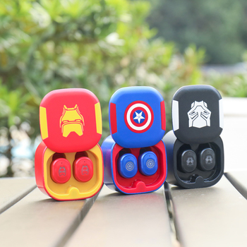 The Avengers TWS True wireless Bluetooth 5.0 headset Iron Man Captain America Panther stereo earphones with Charging Storage box