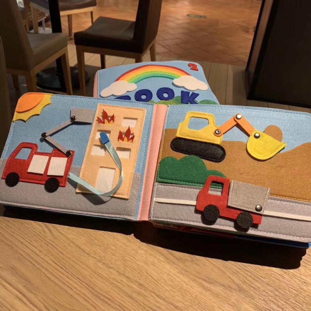Радужные 3D мягкие детские книжки, тканевые книжки на ощупь, 3D книжки, тканевые книжки для детей, малышей, Обучающие сенсорные книжки, детский...
