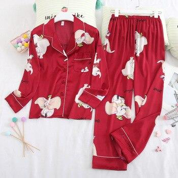 Summer New Pajamas Satin Silky Couple Home Clothes Set Cute Cartoon Pyjamas Sleep Suit Lovers' Thin Nightgown Intimate Lingerie cute cartoon style couple lovers keychain silver pair