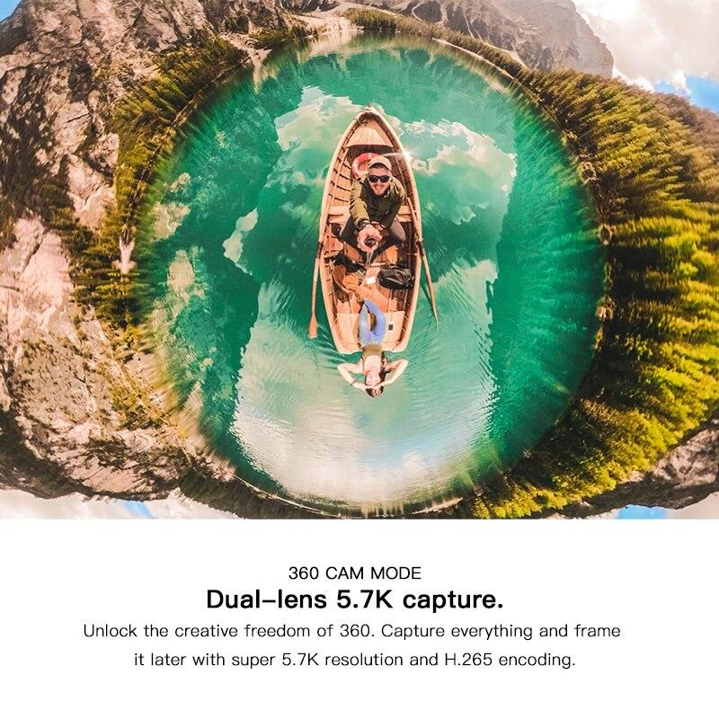 Insta360 One X2 360 Action Camera 5.7K VR Video 10M Waterproof Insta 360 One X2 Pocket Panorama Underwater Helmet Pro  Sport Cam-4