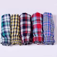 1pc Men's Cotton Arrow Boxers Casual Plaid Print Elastic Waist Underwear Summer