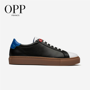 OPP Cow Leather Flats Fashion Shoes Genuine Leather Loafers For Men Shoes Moccasins Men's Casual Footwear Young Flats