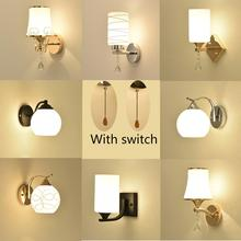 Wall-Lamps Bracket-Light Lampshade-Holder Bedside-Lamp-Stand Switch Living-Room Creativity