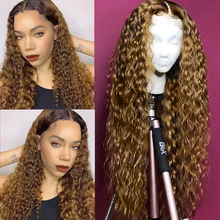 Highlight Wigs Human-Hair-Wigs Lace Closure Water-Wave Ali-Annabelle Lace-Frontal Pre-Colored