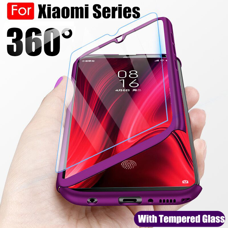360 Full Body Phone Case For Xiaomi Redmi Note 9S 9 Pro Max 8 8T 7 6 5 8A 7A 6A Cover For Xiaomi Mi Note 10 9 Lite 9T CC9 CC9E