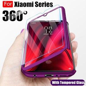 360 Full Body Phone Case for Xiaomi Redmi Note 9S 9 Pro Max 8 8T 7 6 5 8A 7A 6A Cover for Xiaomi Mi Note 10 9 Lite 9T CC9 CC9E(China)