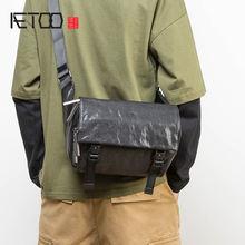 Кожаная модная нагрудная сумка aetoo мужская повседневная через