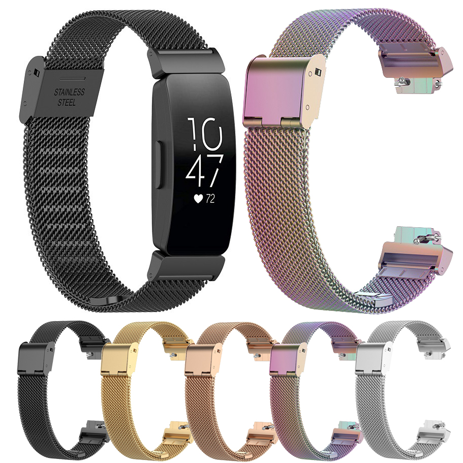 Essidi 2019 New Bracelet Strap For Fitbit inspire inspire HR Milanese Magnetic Stainless Steel Band Buckle For Fitbit inspire Smart Accessories     - title=