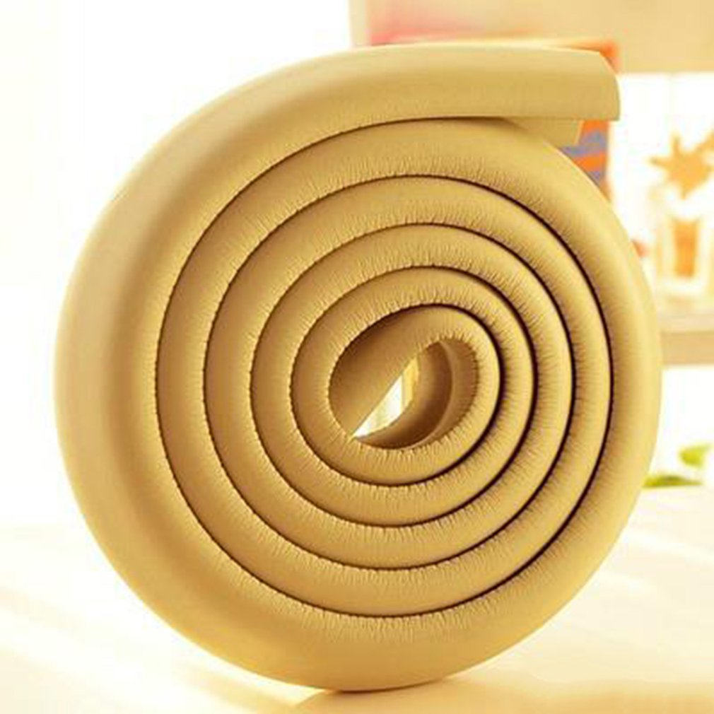 Hot 2M Baby Safety Table Desk Edge Guard Strip Corner Protector For Furniture Cushion Rubber Foam Bumper With Double-sided Tape
