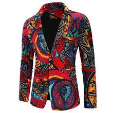 Мужская куртка с цветочным принтом halozeroo повседневная на