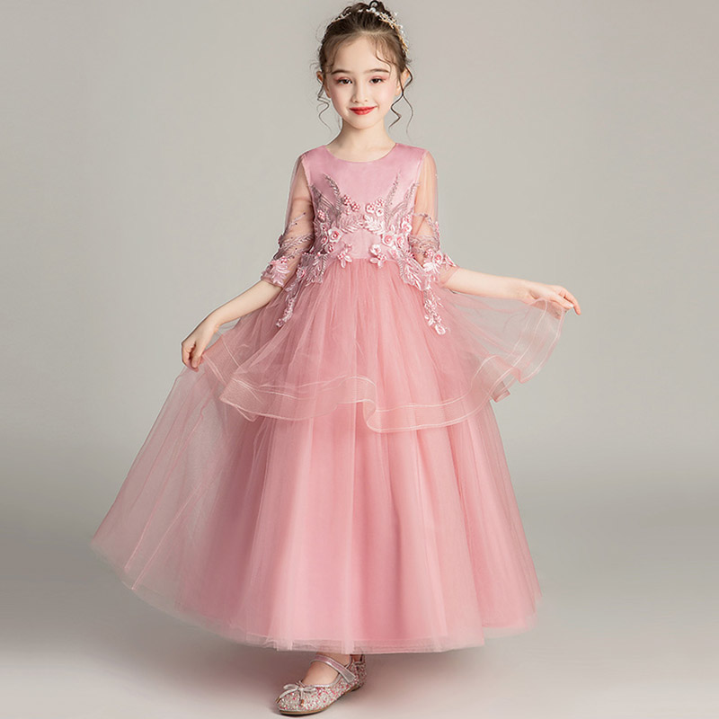 2019 Children Pageant Evening Gowns Lace Ball Gown   Flower     Girl     Dresses   For Weddings First Communion   Dresses   For Lilttle   Girls
