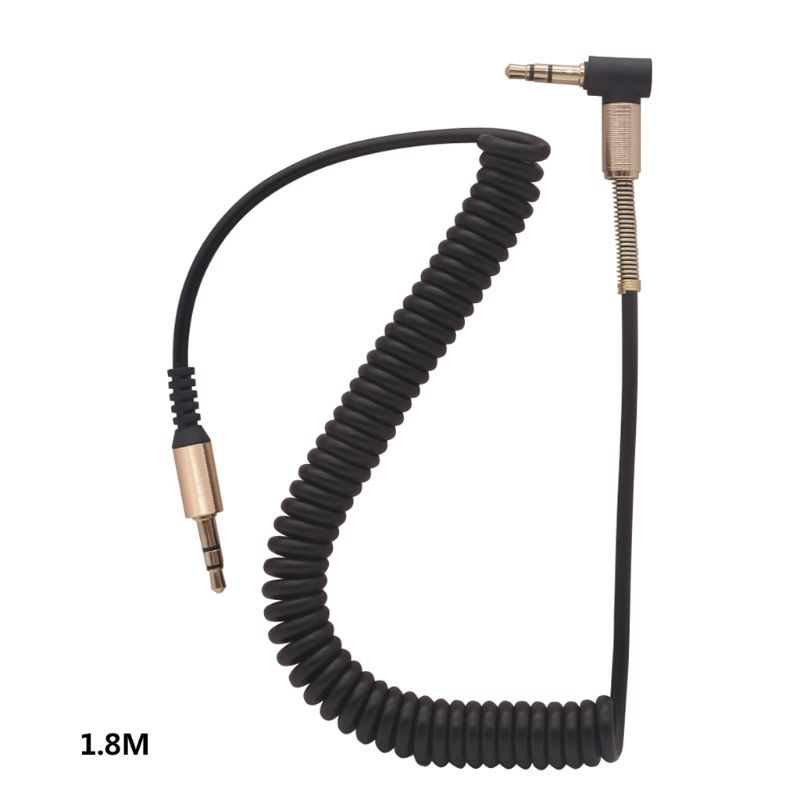 3.5MM Audio Cable 3.5 Jack Male to Male AUX Cord Wire Stretchable Spring Cable for Car Phone Headphone Speaker Accessories