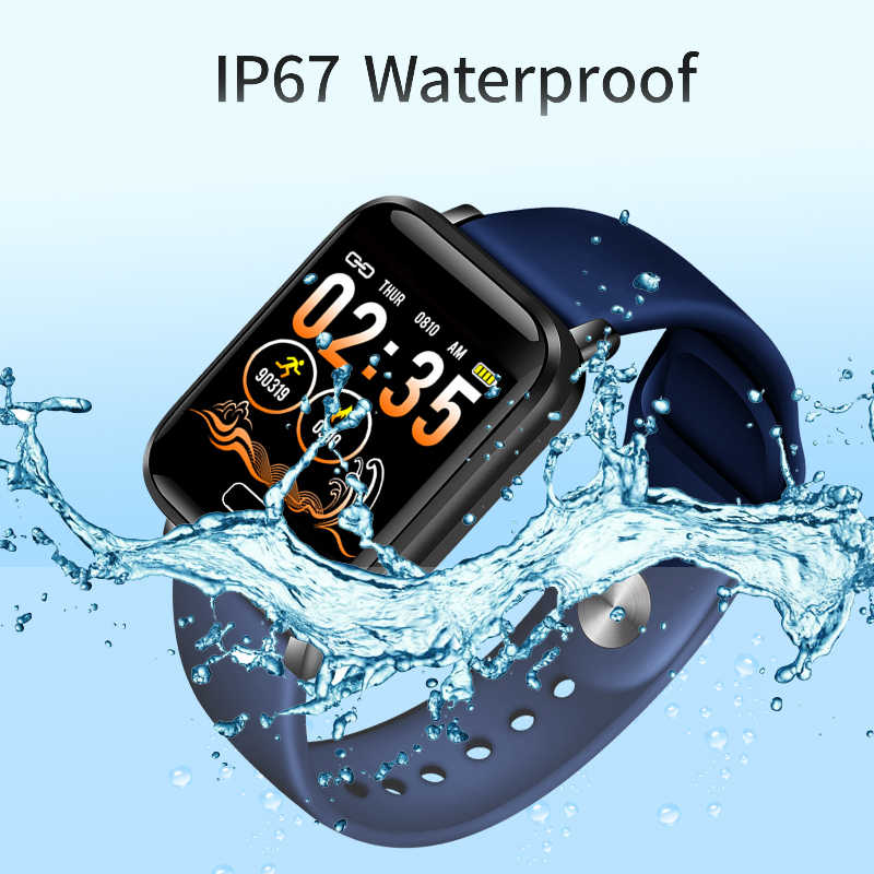 2019 ליגע הכי חדש גברים נשים חכם שעון בריאות צג קצב לב/דם/פדומטר Bluetooth עמיד למים ספורט צמיד