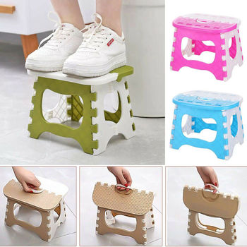 New Fashion Foldable Step Stool Multi Purpose Ottomans Home Kitchen Bedroom Easy Plastic Storage Practical Convenient to Carry