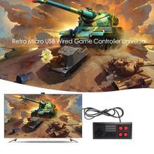 Retro Game Controller Installa Remove Convenient Simple Classic Micro USB Wired Gamepad