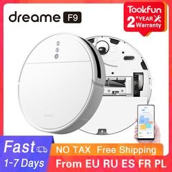 Dreame F9 Robot Vacuum Cleaner for home cordless Washing Mopping 2500PA cyclone Suction Sweeping XIAOMI WIFI APP Smart Planned