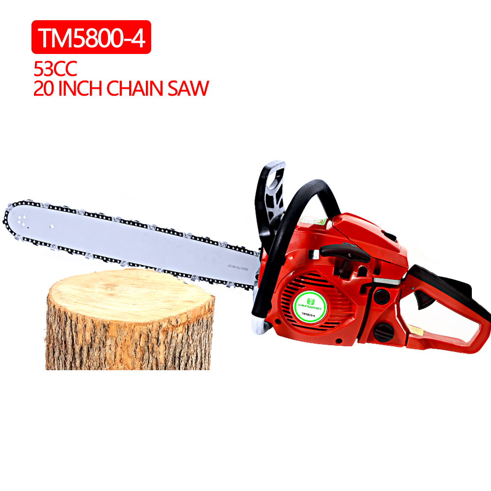 RDDSPON 5800-4 Gasoline Reach Chainsaw 53CC 20 INCH Chain Saw 2-Stroke Petrol Engine 2200W Logging Cutting Large Diameter Trees