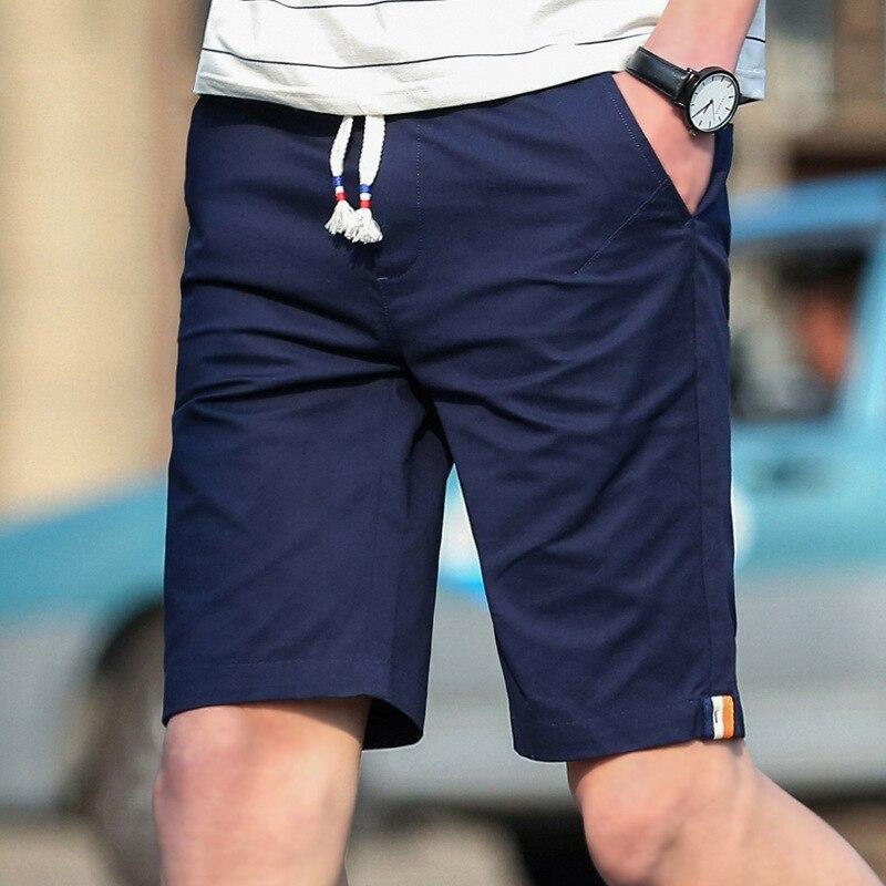 Nice Pop Shorts Men VogueBeach Shorts Homme Quality Cotton Bottoms Elastic Waist Fashion Brand Board Shorts Plus Size 5XL
