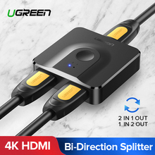 Ugreen HDMI Splitter 4K Switch Bi-Direction 1x2/2x1 Adapter Switcher 2 in 1 out for PS4/3 TV Box