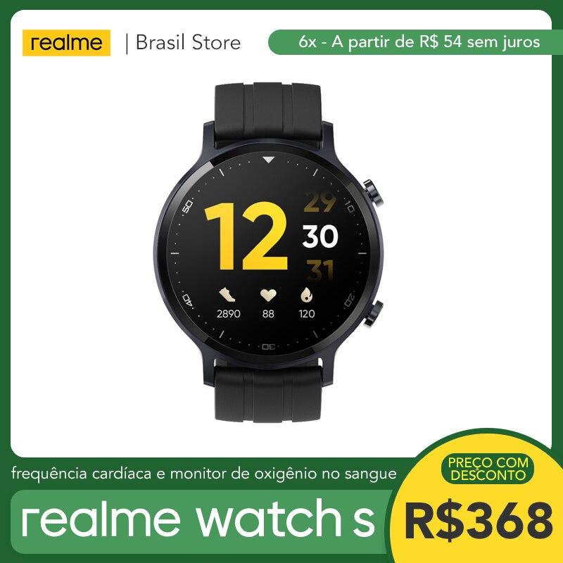 Realme Watch S-монитор уровня кислорода в крови | 15 дней в режиме ожидания | Сенсорный экран с автоматической яркостью 1,3 дюйма | Пульсометр в режиме...