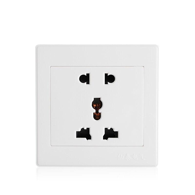 Белая розетка панель универсальная 5 отверстий 10a электрическая