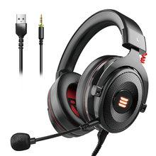 EKSA E900 Pro zestaw słuchawkowy Gamer USB 7 1 3 5mm profesjonalne słuchawki z mikrofonem do gier Mute Control słuchawki z podświetleniem LED na PC Mobile tanie tanio Dynamiczny CN (pochodzenie) PRZEWODOWY 118±3dBdB Brak 1 8mm do telefonu komórkowego Do kafejki internetowej Do gier wideo