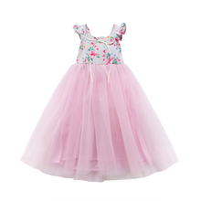 Princess Girl Dress Toddler Infant Child Maxi Dress Kids Baby Girls Sleeveless Party Dress Summer Sundress Floral Clothes 1-7T 2018 brand new toddler infant kids child party wedding formal dresses rose girl princess dress flower chiffon sundress kids 2 8t