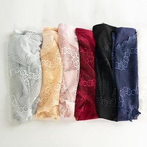 Image 5 - กางเกงลูกไม้เซ็กซี่ชุดชั้นในสตรีกลางเอว plus ขนาดยืดหยุ่นกางเกงสุภาพสตรีโปร่งใสตาข่ายหญิงชุดชั้นในสบาย